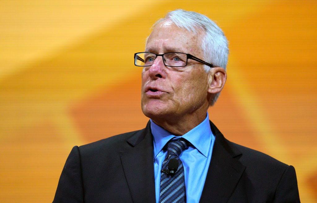 Rob Walton speaks during the annual Walmart shareholders meeting