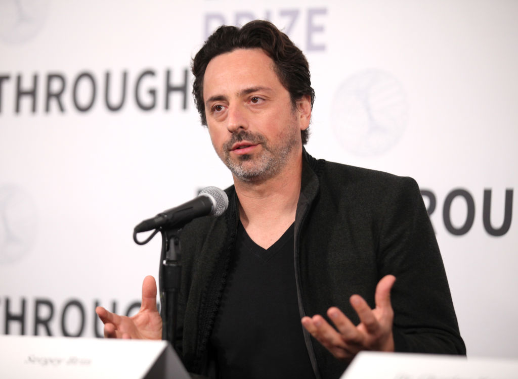 Sergey Brin attends the 2019 Breakthrough Prize at NASA Ames Research Center
