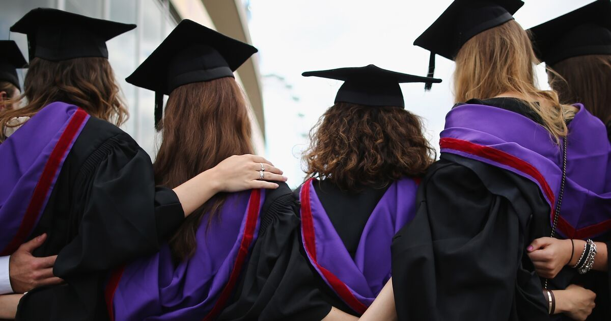 A group of students in graduation garments
