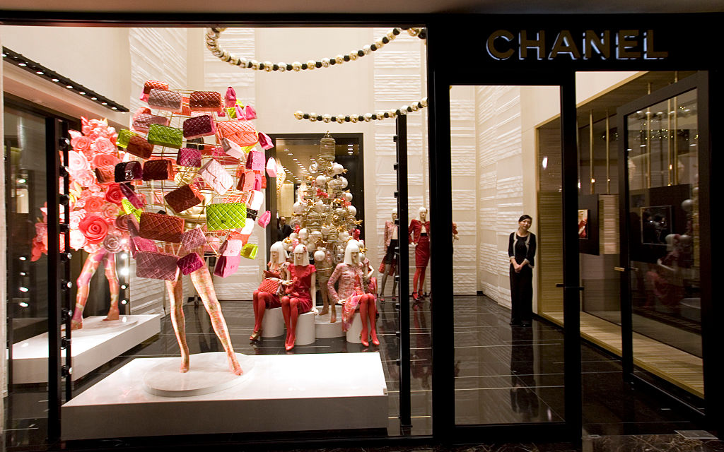 The entrance of a Chanel boutique