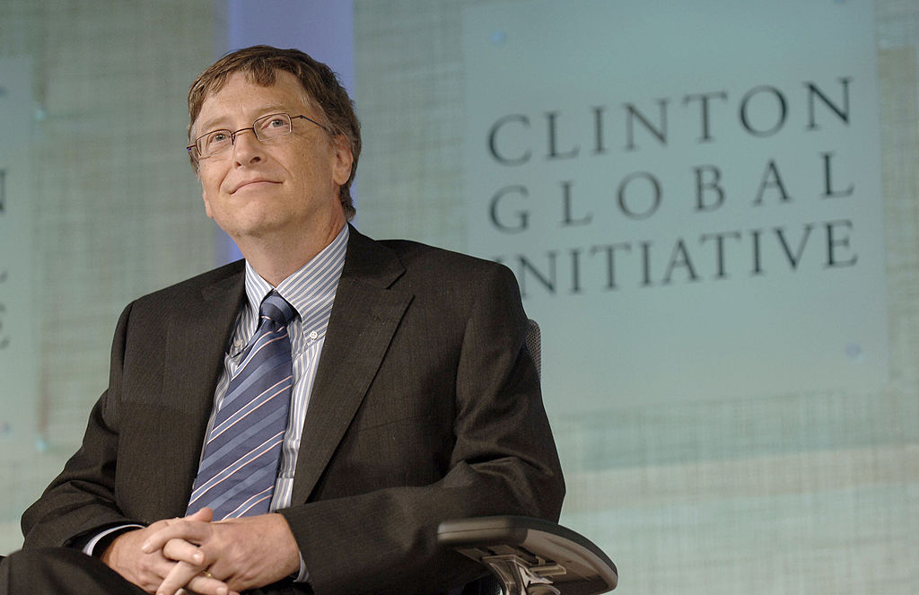 Gates at the Clinton Global Initiative -109612363