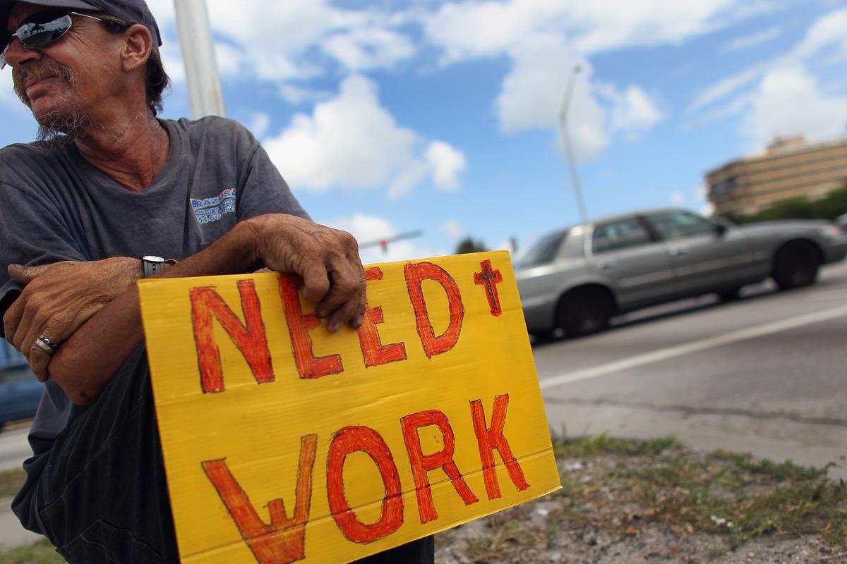 A man seeks work