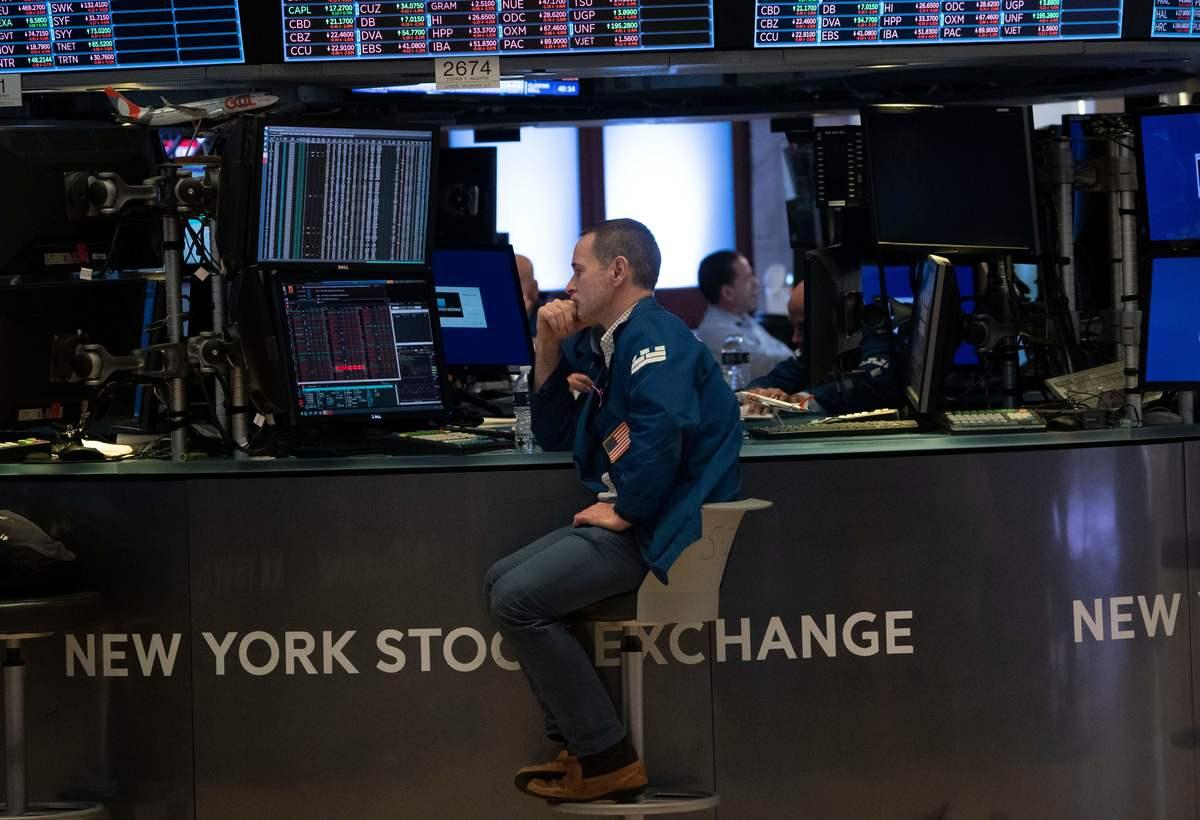 man at the stock market