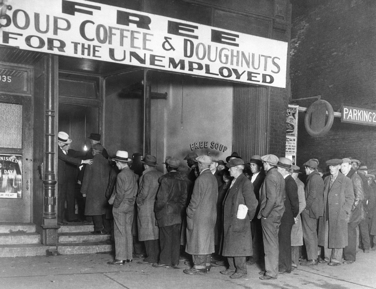 Notorious gangster Al Capone attempts to help unemployed men with his soup kitchen