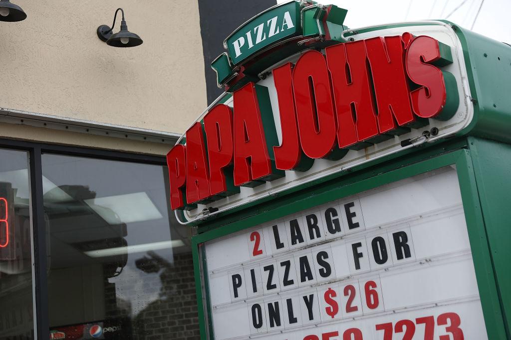 A Papa John's restaurant is seen