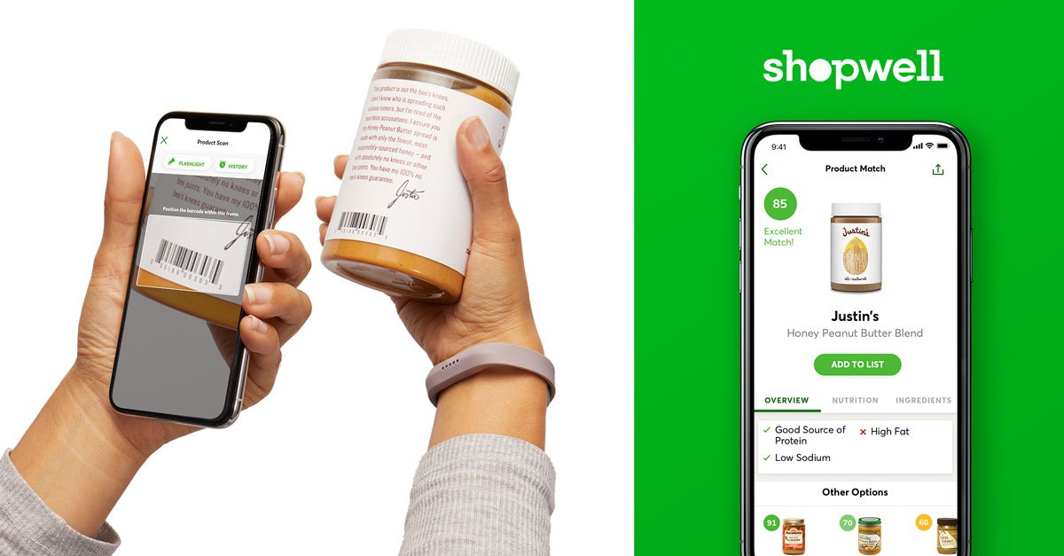 person using shopwell