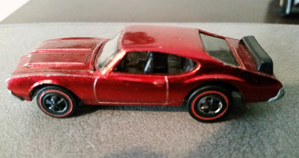 olds 442 red with black interior valuable hot wheels