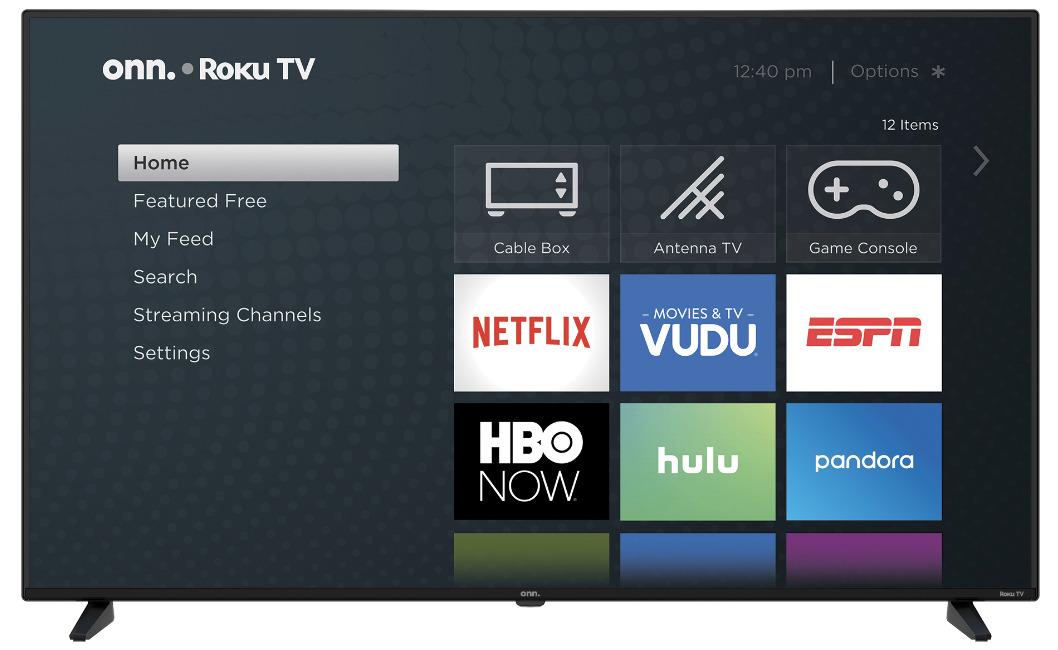 50-inch Onn 4K Roku TV