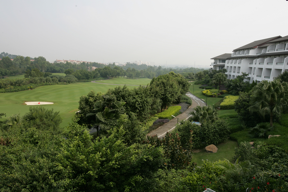 Golf course at Mission Hills Golf Club in Mission Hills Road, Shenzhen.