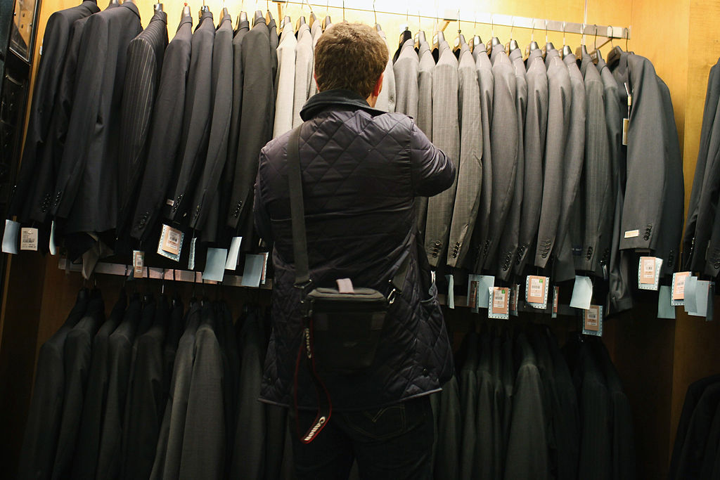 Man shopping for a suit