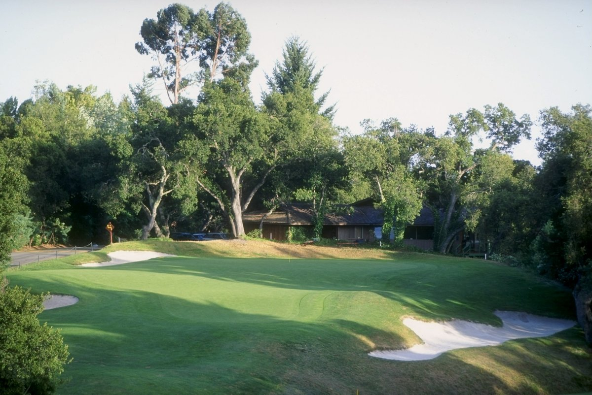 A general view of the 16th hole at the Pasatiempo Golf Course