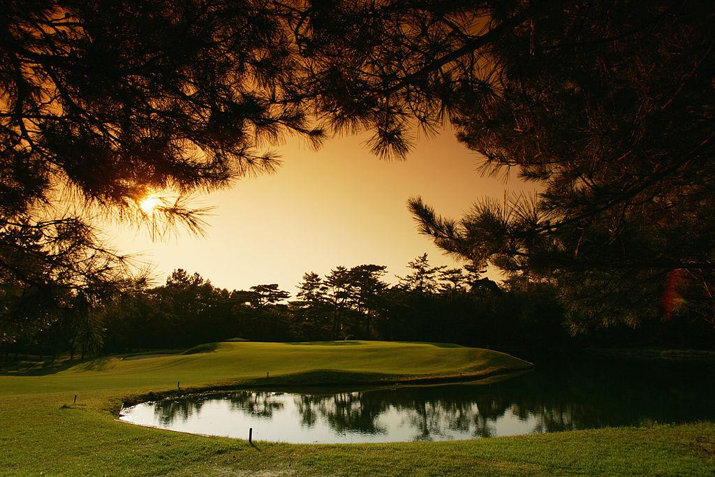 The 461 yard par 4 3rd hole on the Hirono Golf Club