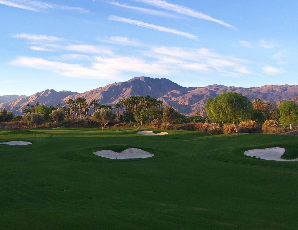 View of Madison Club golf course in La Quinta, CA.