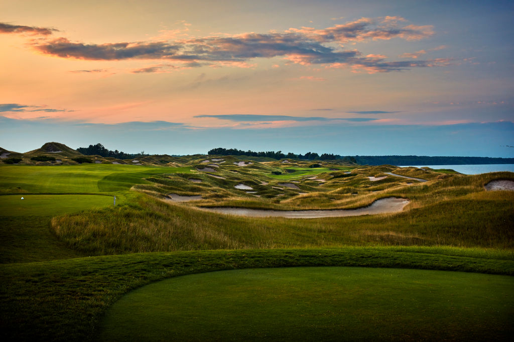 A view from the 11th hole of Whistling Straits Golf Course