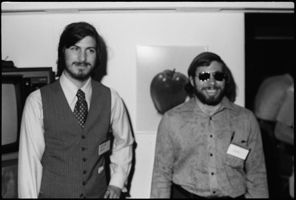 steve jobs and steve wozniak at the first west coast computer faire