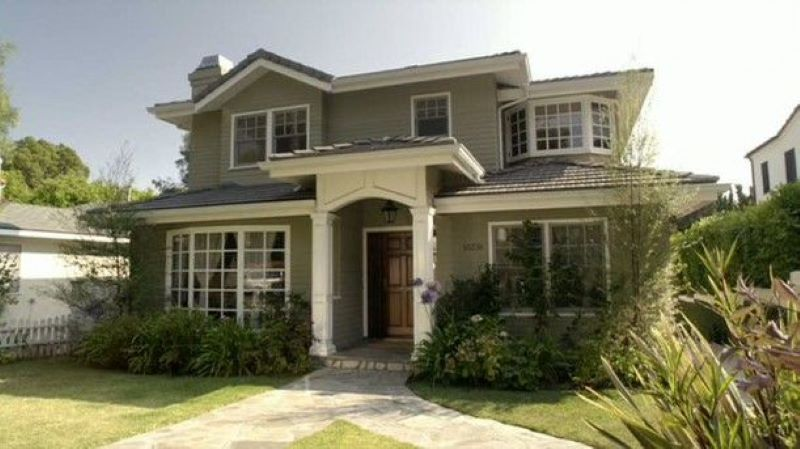 Only The Exterior Of The Modern Family House Was Used