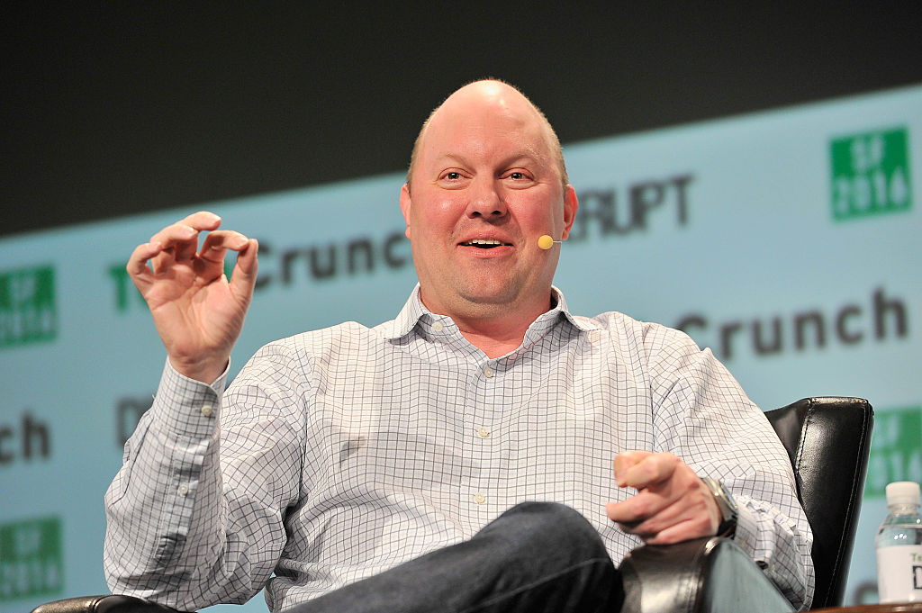 Entrepreneur Marc Andreessen speaks onstage