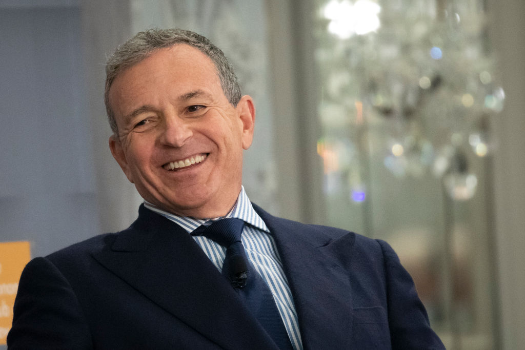 Bob Iger, chairman and chief executive officer of The Walt Disney Company, speaks during an Economic Club of New York event i