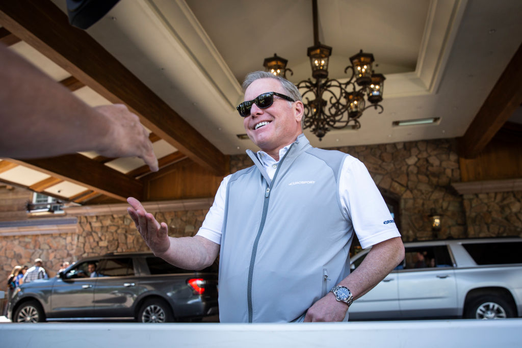 David Zaslav, chief executive officer of Discovery Communications, arrives at the annual Allen & Company Sun Valley Conference