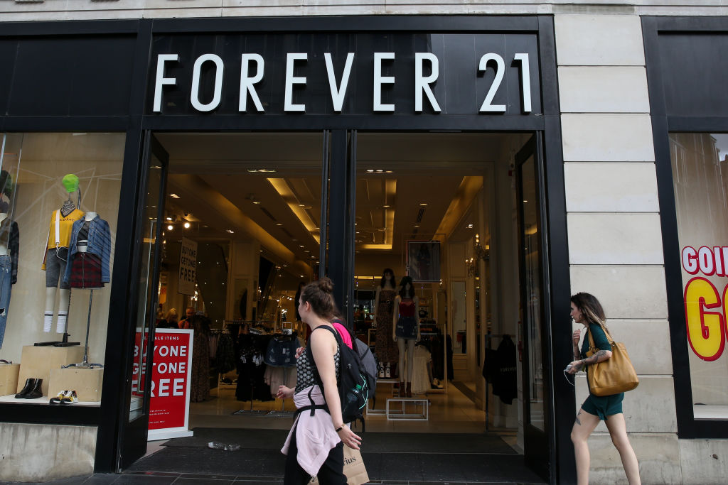 Front of Forever 21 store