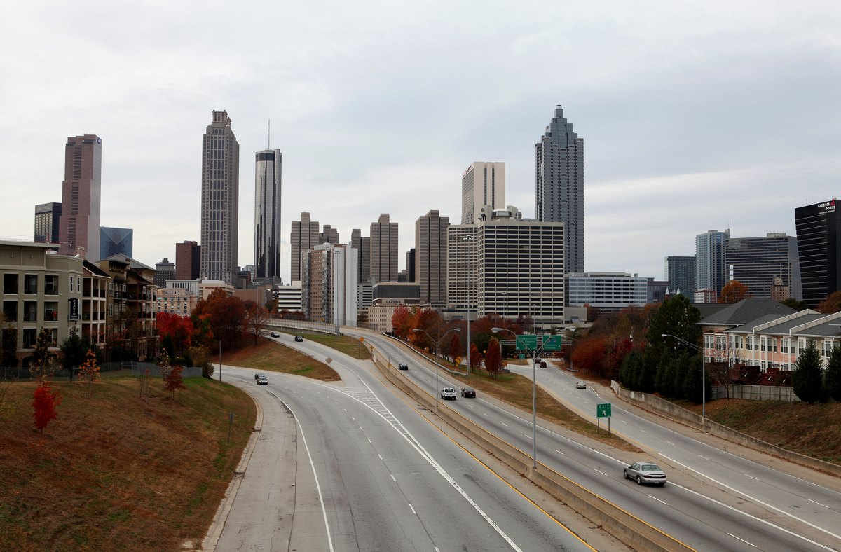 Atlanta skyline, as photographed from Jackson Street