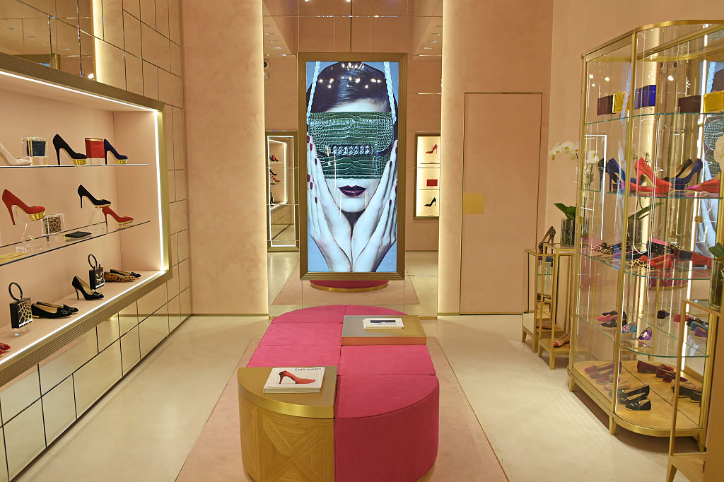 Inside Charlotte Olympia store