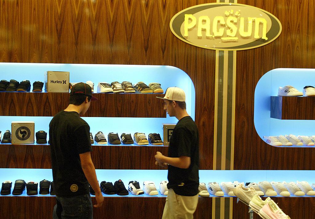 PacSun shoe area