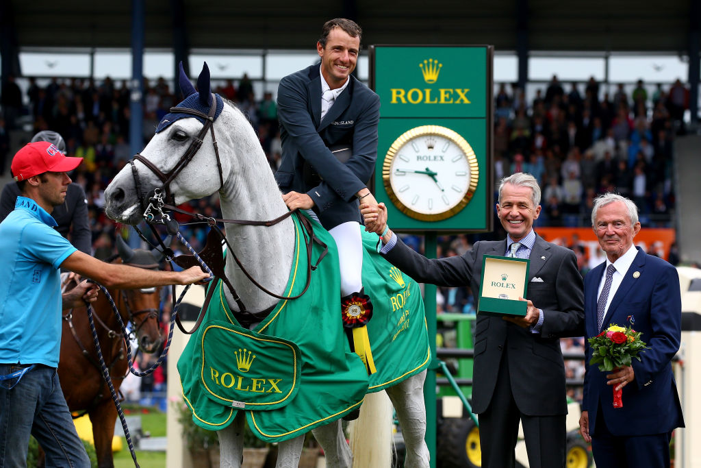 guy on rolex horse