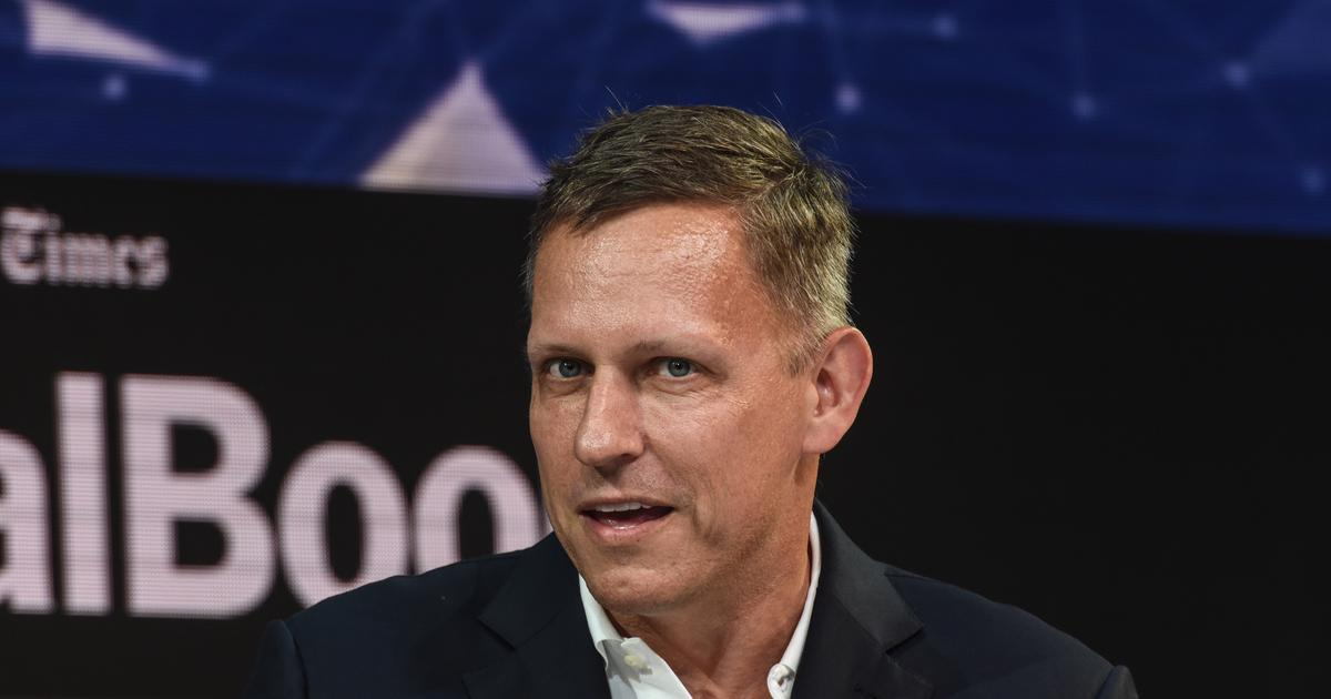 Peter Thiel, Partner, Founders Fund, speaks at the New York Times DealBook conference