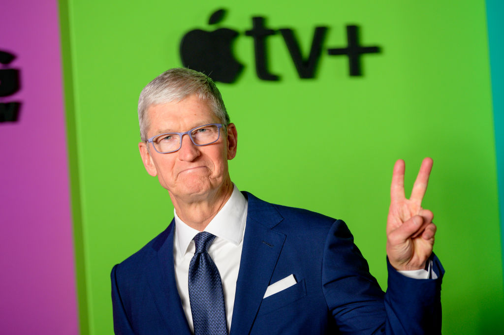 Apple CEO Tim Cook attends Apple TV+'s
