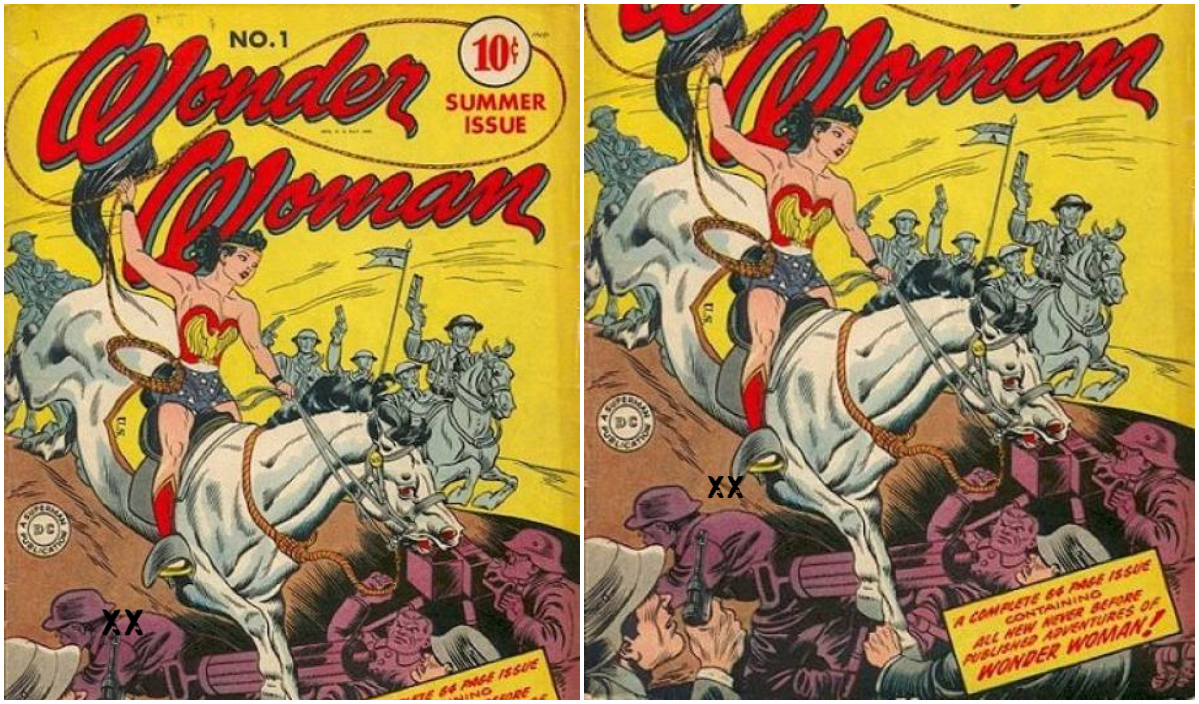 Wonder Woman' riding a horse