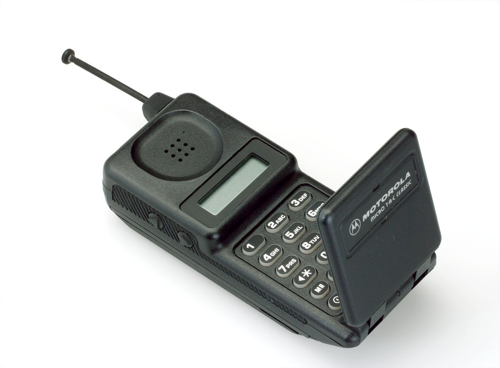 a motorola micro t-a-c- classic cell phone