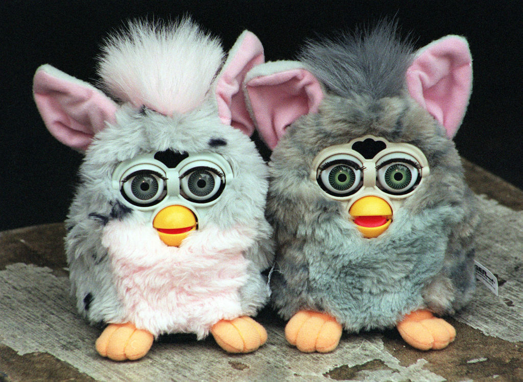 two furby toys from the 1990s
