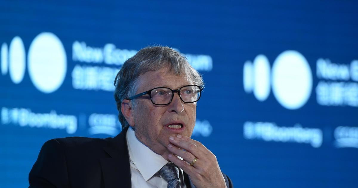 Bill Gates speaks during 2019 New Economy Forum