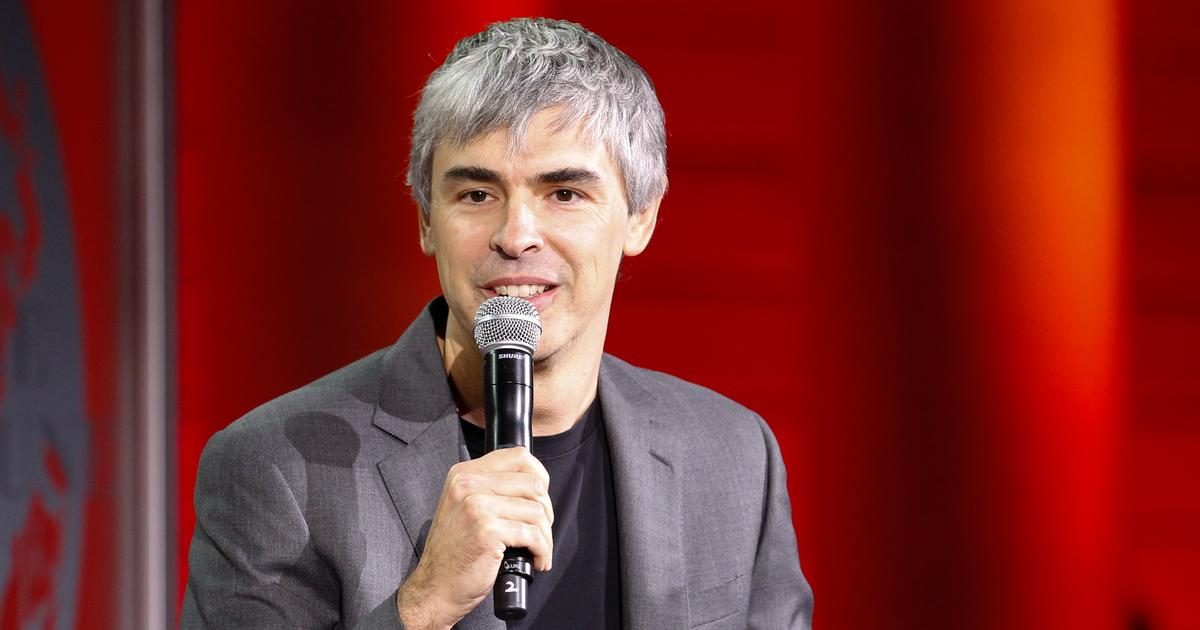 Larry Page speaks during the Fortune Global Forum