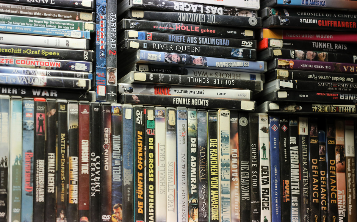 stack of DVDs