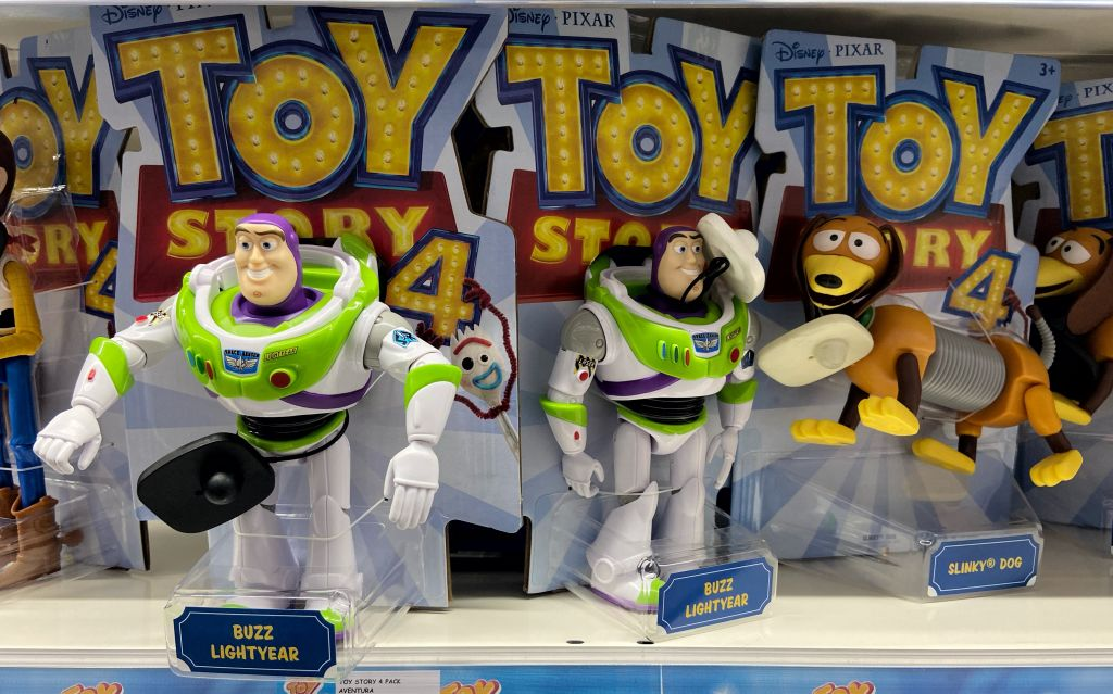 Toys from the film 'Toy Story 4'