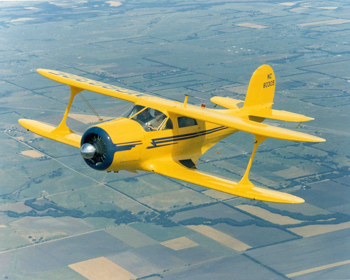 1946 Beech G17S Staggerwing Biplane