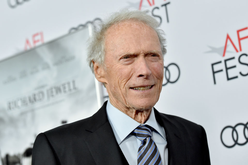clint eastwood posing on the red carpet