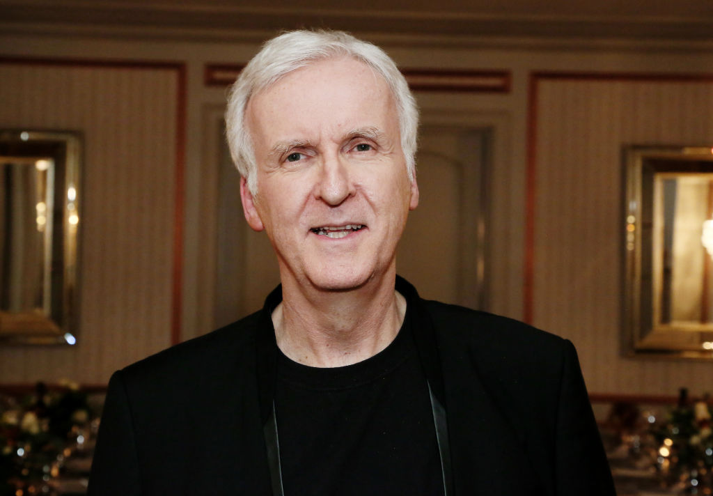james cameron smiling for a photo