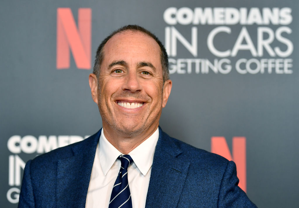 jerry seinfeld smiling for a photo