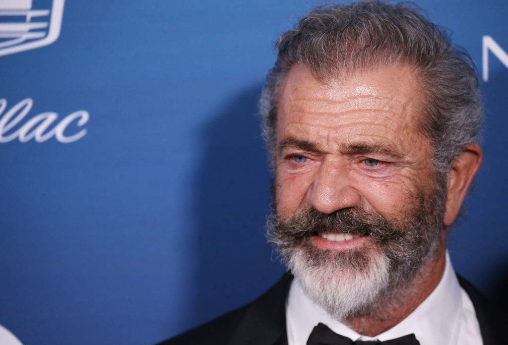 mel gibson with a beard on a red carpet
