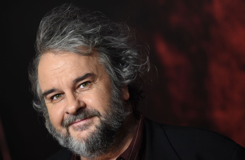 close-up shot of peter jackson on the red carpet