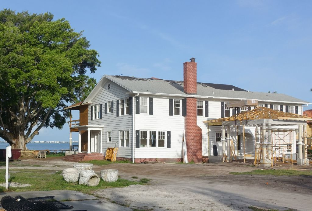 This photo taken on June 16, 2018 shows building and renovation
