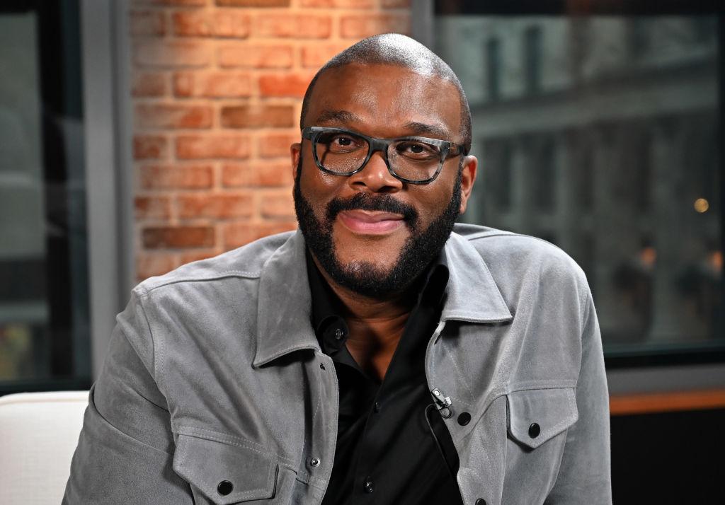 tyler perry wearing glasses and smiling