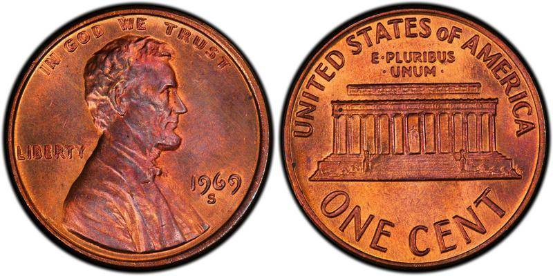 1969-S Lincoln Penny Doubled Die Obverse