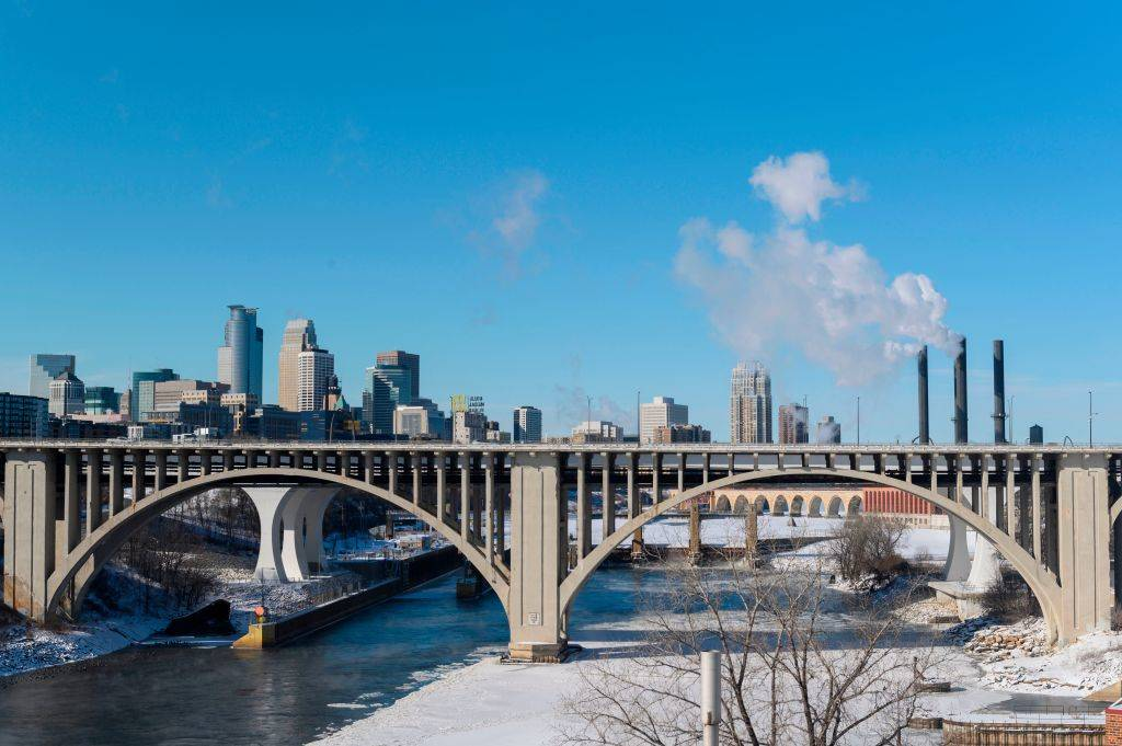 A view of downtown on January 29, 2019 in Minneapolis, Minnesota