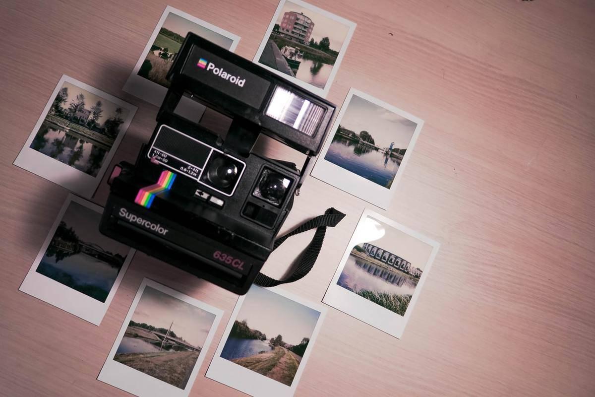 a Polaroid