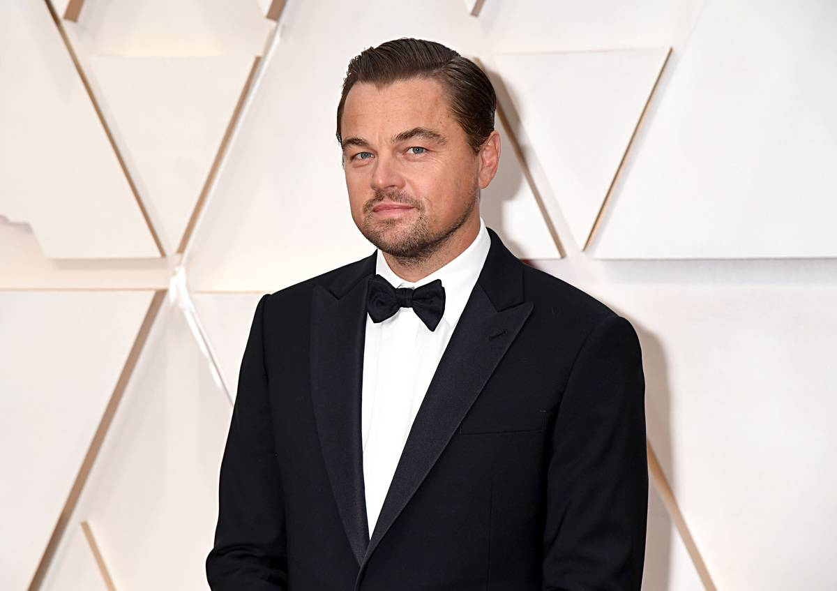 Leonardo DiCaprio attends the Academy Awards in 2020.