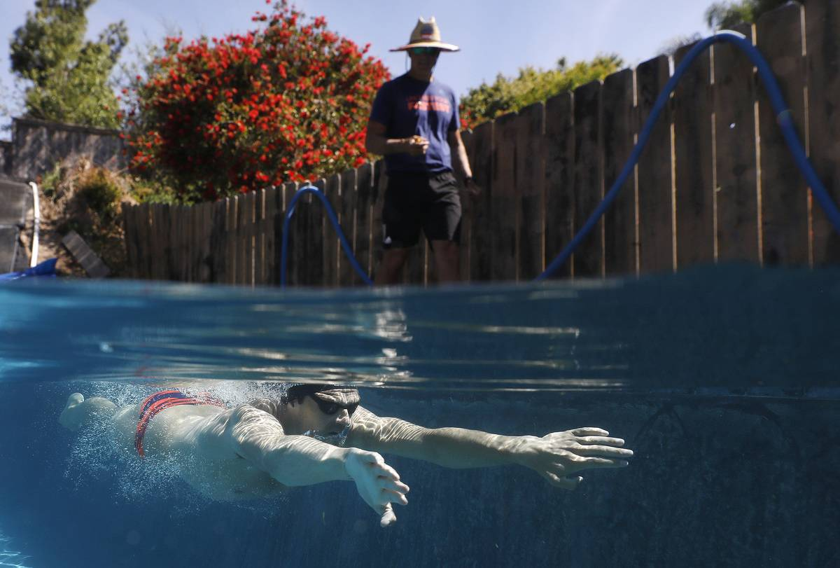US Olympic Swimmer Michael Andrew Trains During COVID-19 Pandemic
